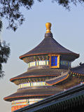 Temple of Heaven 1. Three tiered circular temple with blue rooftops royalty free stock photo