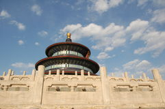 Temple of Heaven. Beijing well-known history of ancient buildings, the emperor worship place Temple of Heaven Royalty Free Stock Images