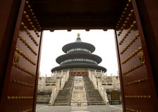Temple of Heaven. Gate of the Temple of Heaven in Beijing Stock Photography