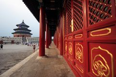 Temple of Heaven. At Beijing city, China Royalty Free Stock Image