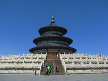 The Temple of Heaven. Under the blue sky Stock Photography
