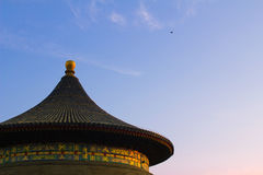 The temple of heaven. When sunset Royalty Free Stock Photos