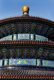 Temple of Heaven. Roof detail of the Temple of Heaven in Beijing, China Royalty Free Stock Photo