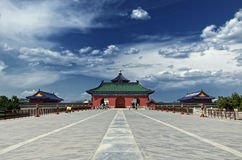 Temple of Heaven. The road and a red gate to the Temple of Heaven, Beijing, China Stock Images