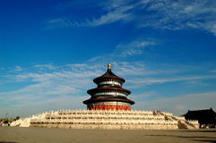 Temple of Heaven. Hall of Prayer for Good Harvest in the Royalty Free Stock Photos