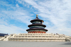 Temple of heaven. Hall of Prayer for Good Harvest in the Stock Images