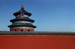 The Temple of Heaven. In Beijing. Space for print Royalty Free Stock Images
