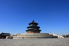 The temple of heaven. The Temple was built in 1420 A.D. during the Ming Dynasty to offer sacrifice to Heaven. the Altar of Prayer for Good Harvests (Qigutan) is Stock Photography