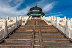 Temple of Heaven against blue sky Stock Photos