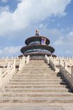 Temple of Heaven against a blue sky with dramatic clouds, Beijing, China Royalty Free Stock Photo