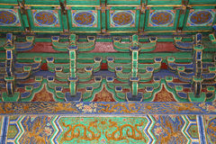Temple of Heaven (Altar of Heaven)-- Inside the Hall of Prayer for Good Harvests, Beijing Royalty Free Stock Images