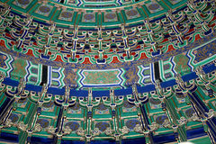 Temple of Heaven (Altar of Heaven)-- Inside the Hall of Prayer for Good Harvests, Beijing Stock Image