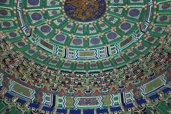 Temple of Heaven (Altar of Heaven)-- Inside the Hall of Prayer for Good Harvests, Beijing Stock Images