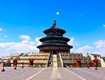 Temple of Heaven. The beautiful Buddhist Temple of Heaven located in Beijing, China on a clear day Stock Image