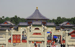 Temple of Heaven, Beijing. The Temple of Heaven is a complex of Taoist buildings situated in southeastern urban Beijing, in Xuanwu District. The complex was Stock Photos