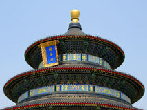 Temple of Heaven, Beijing. Hall of Prayer for Good Harvest domed roof in the Temple of Heaven, Beijing, China Royalty Free Stock Photos