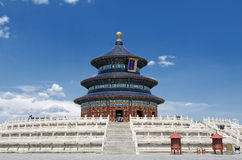 Temple of Heaven in Beijing, China. Temple of Heaven under blue sky Royalty Free Stock Images