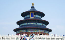 Temple of Heaven in Beijing, China. The Hall of Prayers for Good Harvests in the front view in Beijing, China.Photo taken on Aug.13,2012 Royalty Free Stock Photo