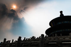 Temple of Heaven. At beijing ,China Royalty Free Stock Photo