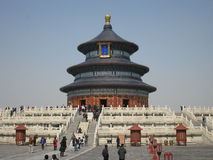 Temple of heaven in Beijing. It is for worship ceremony in Ming and Qing dynasty Stock Photography