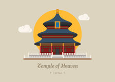 Temple of heaven , china. Eps10 vector format royalty free illustration