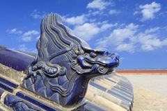 The temple of heaven dragon carving in China Royalty Free Stock Photos
