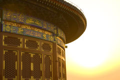 Temple of Heaven II. The Temple of Heaven in Beijing at sunset Royalty Free Stock Photo