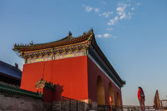 The Temple of Heaven. Is an imperial complex of religious buildings situated in the southeastern part of central Beijing. The complex was visited by the Ming Stock Photos