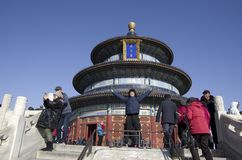 Temple of heaven in spring. Temple of Heaven is the landmark in Beijing. It is the most popular local park too stock photo