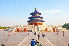 Temple of Heaven Park scene- Hall of Prayer for Good Harvests Royalty Free Stock Photography