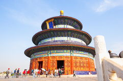 Temple of Heaven Park scene- Hall of Prayer for Good Harvests Royalty Free Stock Image