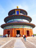 Temple of Heaven Park scene- Hall of Prayer for Good Harvests Royalty Free Stock Photo
