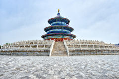 Temple of Heaven Tiantan, Beijing, China. An imperial complex of religious buildings situated in the southeastern part of central Beijing. The complex was stock photo