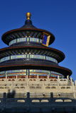 Temple of Heaven. Under blue sky. Chinese emperors used the temple to worship the gods and they ancestors Stock Image