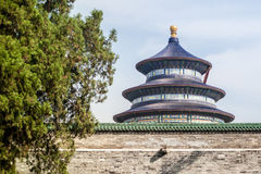 Temple of Heaven. Was built in 15th Centry, located in Beijing, China. It was the place where Emperor used to prey for good harvest stock photo