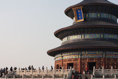 Temple of Heavens, Beijing China. Winter at Imperial Temple of Heavens in Beijing China Stock Photography