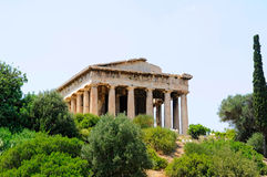 Temple of Hephaestus Royalty Free Stock Photography