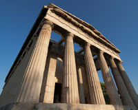 Temple of Hephaestus Royalty Free Stock Images