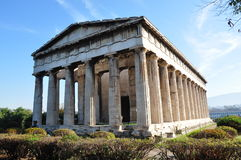 The Temple of Hephaestus. And Athena Ergane , also known as the Hephaisteion or Theseion , is the best preserved ancient Greek temple. It is a Doric order Stock Images