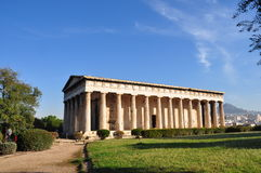 The Temple of Hephaestus. And Athena Ergane , also known as the Hephaisteion or Theseion , is the best preserved ancient Greek temple. It is a Doric order Royalty Free Stock Photos