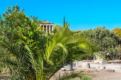 Temple of Hephaestus in Agora area within the Acropolis, Greece Royalty Free Stock Photography