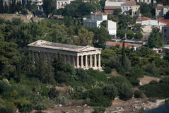 The Temple of Hephaestus Stock Photo