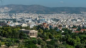 Temple of Hephaestus in the Agora of Athens royalty free stock images