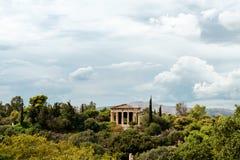 Temple of Hephaestus on Agora. In Athens, Greece Royalty Free Stock Photo