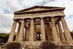 Temple of Hephaestus on Agora. In Athens, Greece Stock Photo