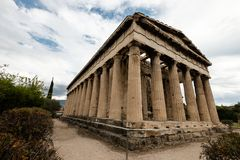 Temple of Hephaestus on Agora. In Athens, Greece Stock Image