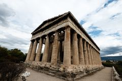 Temple of Hephaestus on Agora. In Athens, Greece Stock Photos