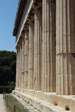 The temple of Hephaestus, Ancient Agora of Athens. The Ancient Agora of Classical Athens is the best-known example of an ancient Greek agora, located to the Royalty Free Stock Photography