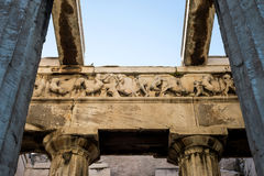 Temple of Hephaestus in Ancient Agora, Athens Stock Photo