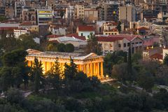 Athens. Temple of Hephaestus in Ancient Agora in Athens, Greece Stock Images